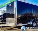 6'x10' ATC Enclosed Cargo Trailer - Black