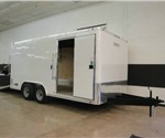 Factory Preview of 8' x 16' Enclosed Landscape Trailer