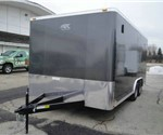 Enclosed Medium Charcoal 8.5' x 16' Motiv Cargo Trailer