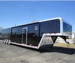 Enclosed Black 8.5' x 48' Motiv Gooseneck Car Hauler