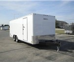 Enclosed Polar White 8' x 20' Motiv Enclosed Landscape Trailer