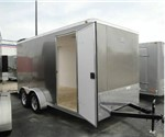 Enclosed Light Pewter Metallic 7' x 14' ATC – Aluminum Trailer Company Cargo Trailer