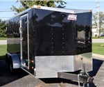 Enclosed Black 7' x 14' American Hauler Cargo Trailer