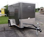 Enclosed 5' x 8' Medium Charcoal Cargo Trailer by ATC – Aluminum Trailer Company