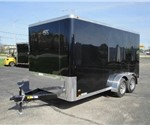 Enclosed Black 7' x 14' Aluminum Trailer Company Cargo Trailer`