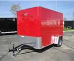 Enclosed Victory Red 6' x 10' Aluminum Trailer Company Cargo Trailer