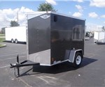 5' x 8' White Cargo Trailer With Rear Ramp Door