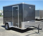 Enclosed Medium Charcoal 6' x 10' Cargo Trailer