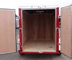 Enclosed Victory Red 5' x 8' ATC – Aluminum Trailer Company Cargo Trailer