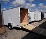 Enclosed Polar White 6' x 12' Cargo Trailer Built by the Aluminum Trailer Company