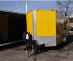 USED 2010 King American 7' x 16' Enclosed Trailer