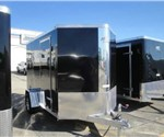 Enclosed Black 6' x 12' ATC – Aluminum Trailer Company Motorcycle Trailer with 2' Nose Wedge