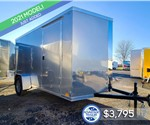 6'x12' Cross Cargo Trailer with Rear Cargo Doors