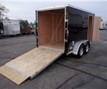 6' x 12' + 2' Wedge Black Cargo Trailer