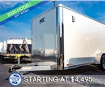 ATC 6'x12' Enclosed Cargo Trailer - White