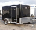 Enclosed Black 6' x 10' ATC – Aluminum Trailer Company Cargo Trailer