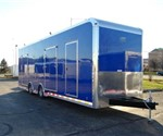 Enclosed New Pepsico Blue 8.5' x 32' ATC – Aluminum Trailer Company Mobile Workshop Trailer