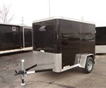 Enclosed Black 5' x 8' ATC – Aluminum Trailer Company Cargo Trailer
