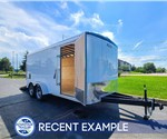 7'x16' Formula Round Top Lawn Service Trailer - Recent Example