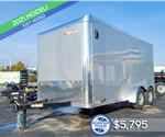 7'x14' Cross Cargo Trailer with Rear Ramp Door