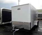 Enclosed Polar White 7' x 16' Cargo Trailer by ATC – Aluminum Trailer Company