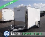 Enclosed Polar White 5'x10' Cargo Trailer - Summer Sale!