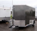 Enclosed Medium Charcoal 6' x 12' ATC – Aluminum Trailer Company Cargo Trailer with 2' Nose Wedge