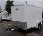Enclosed Polar White 6' x 10' Cargo Trailer by the Aluminum Trailer Company