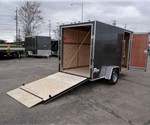 6' x 12' Metallic Charcoal Cargo Trailer with Ramp Rear Door