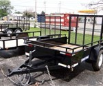 Open Black 5' x 8' Sure-Trac Trailers Utility Trailer
