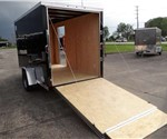 Enclosed Black 6' x 14' Cargo Trailer with 2' Nose Wedge