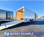 8.5'x20' Formula Triumph Car Hauler - White - Recent Example