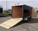 Enclosed Black 7' x 12' Tandem Axled Cargo Trailer by ATC