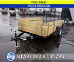 "6' 4"" x 10' Open Utility Trailer with Removable Sides & Gate - Fall Sale!"