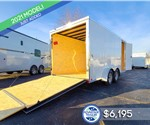 7'x16' Cross Cargo Trailer with Rear Ramp Door