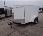 5' x 8' Polar White Cargo Trailer with Single Rear Swing Door
