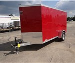 6' x 12' + 2' Wedge Victory Red Cargo Trailer