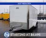 7' x 14' Aluminum Enclosed Cargo Trailer - White