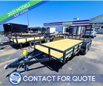 7'x14' Sure-Trac Tube Top Utility Trailer