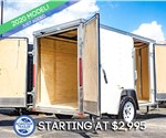MTI 5'x10' Enclosed Cargo Trailer - White