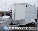 6' x 12' Steel White Cargo Trailer with Rear Ramp Door