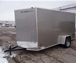 6' x 12' Metallic Pewter Cargo Trailer with Rear Swing Doors