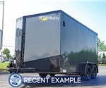 7'x14' Stealth Titan Enclosed Cargo Trailer - Charcoal Blackout Package