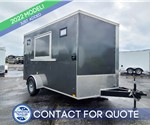 7'x12' Discovery Concession Trailer (Charcoal)