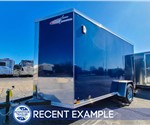 6'x12' Indigo Blue Cross Cargo Trailer - Recent Example