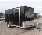 Enclosed Black 6' x 12' Cargo Trailer by ATC