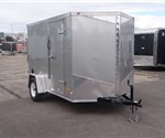 6' x 10' Silver Cargo Trailer with Rear Double Swing Doors