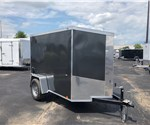 Charcoal 5' x 8' Enclosed Cargo Trailer