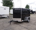5' x 8' Black Cargo Trailer with Single Rear Swing Door