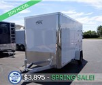 6'x12' White Enclosed Cargo Trailer